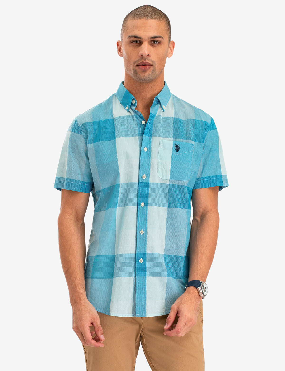 LARGE PLAID SHORT SLEEVE SHIRT