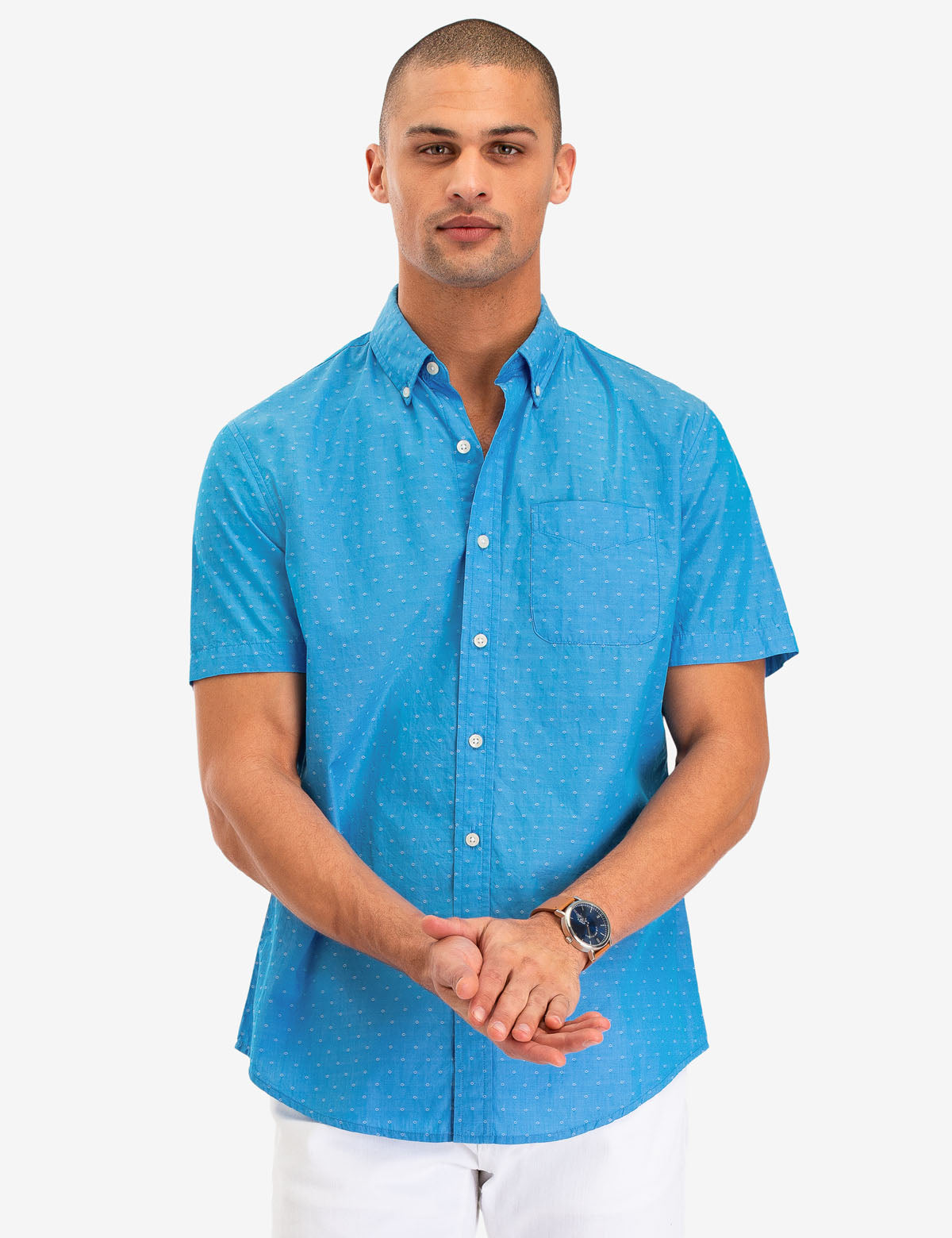 DOBBY DOT PRINT SHORT SLEEVE SHIRT - U.S. Polo Assn.