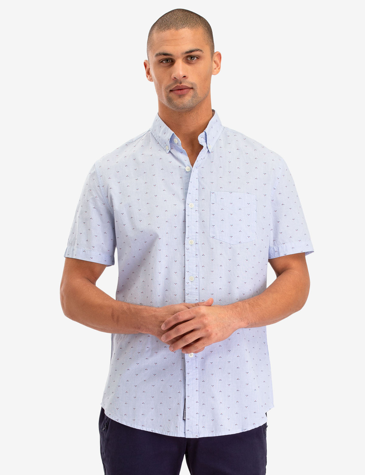 ALL OVER MALLET PRINT SHORT SLEEVE SHIRT