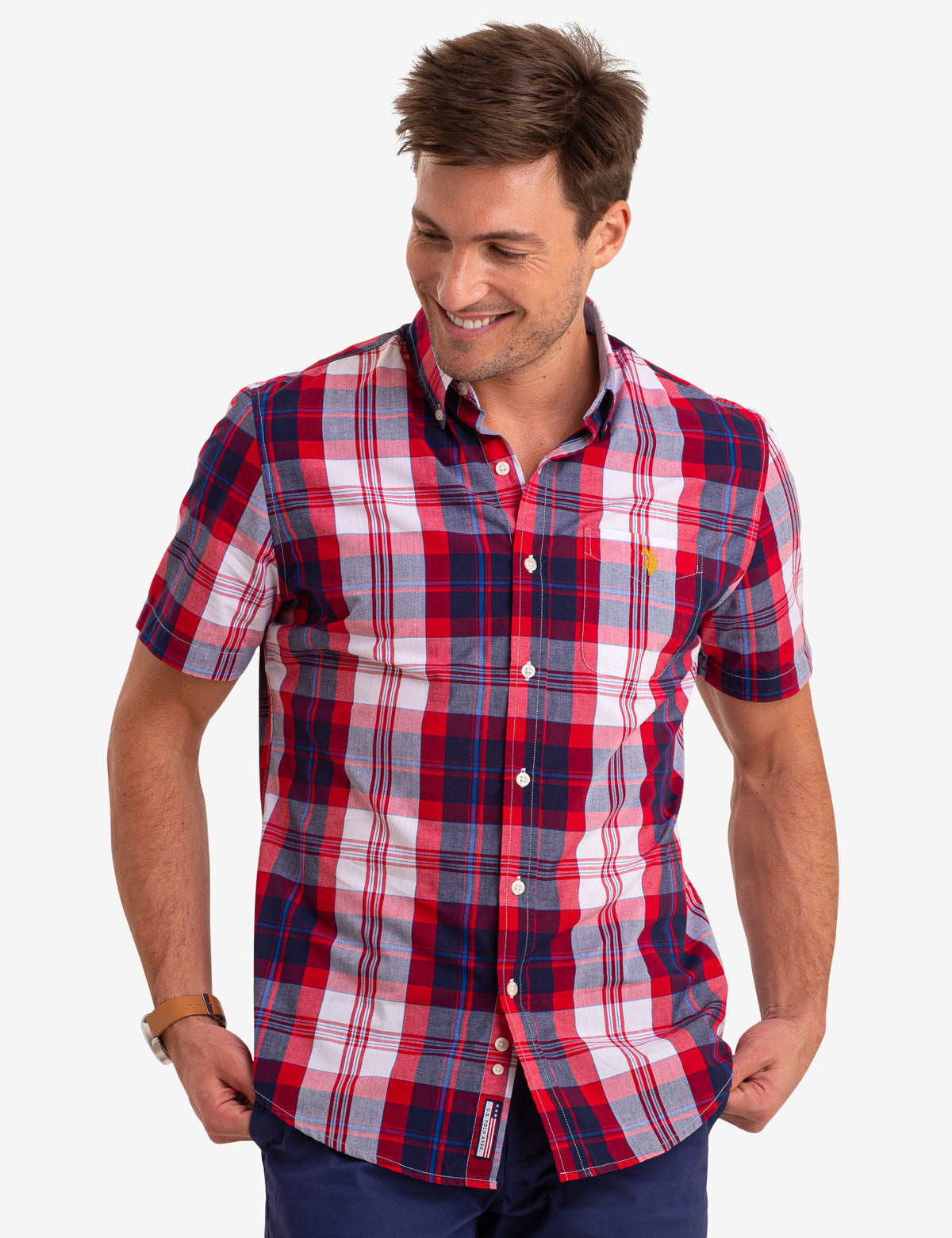 MADRAS PLAID SHORT SLEEVE SHIRT - U.S. Polo Assn.