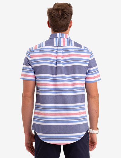 HORIZONTAL STRIPE OXFORD SHORT SLEEVE SHIRT - U.S. Polo Assn.