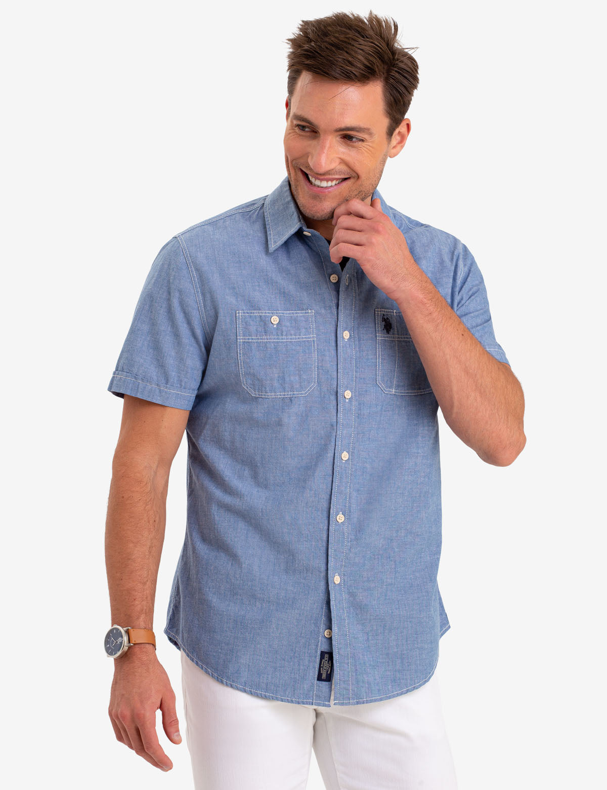 TWO POCKET UTILITY SHORT SLEEVE SHIRT - U.S. Polo Assn.