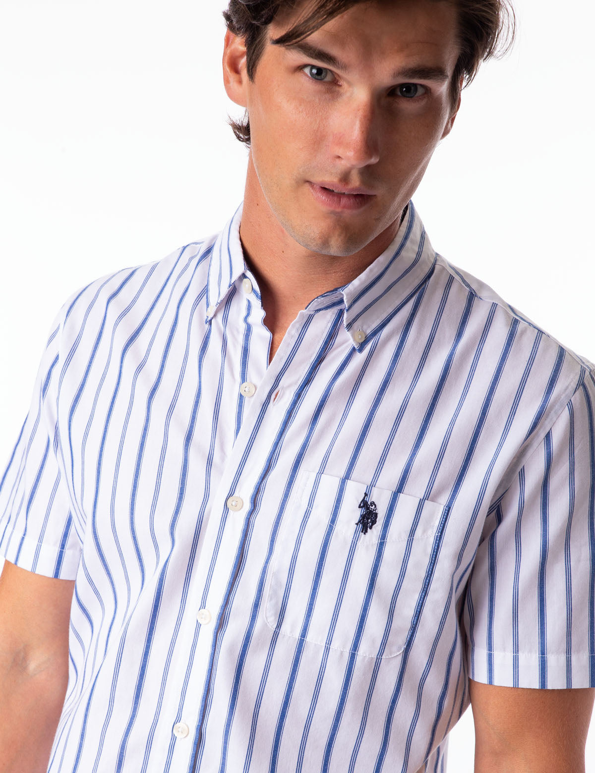 VERTICAL STRIPE POPLIN SHIRT - U.S. Polo Assn.