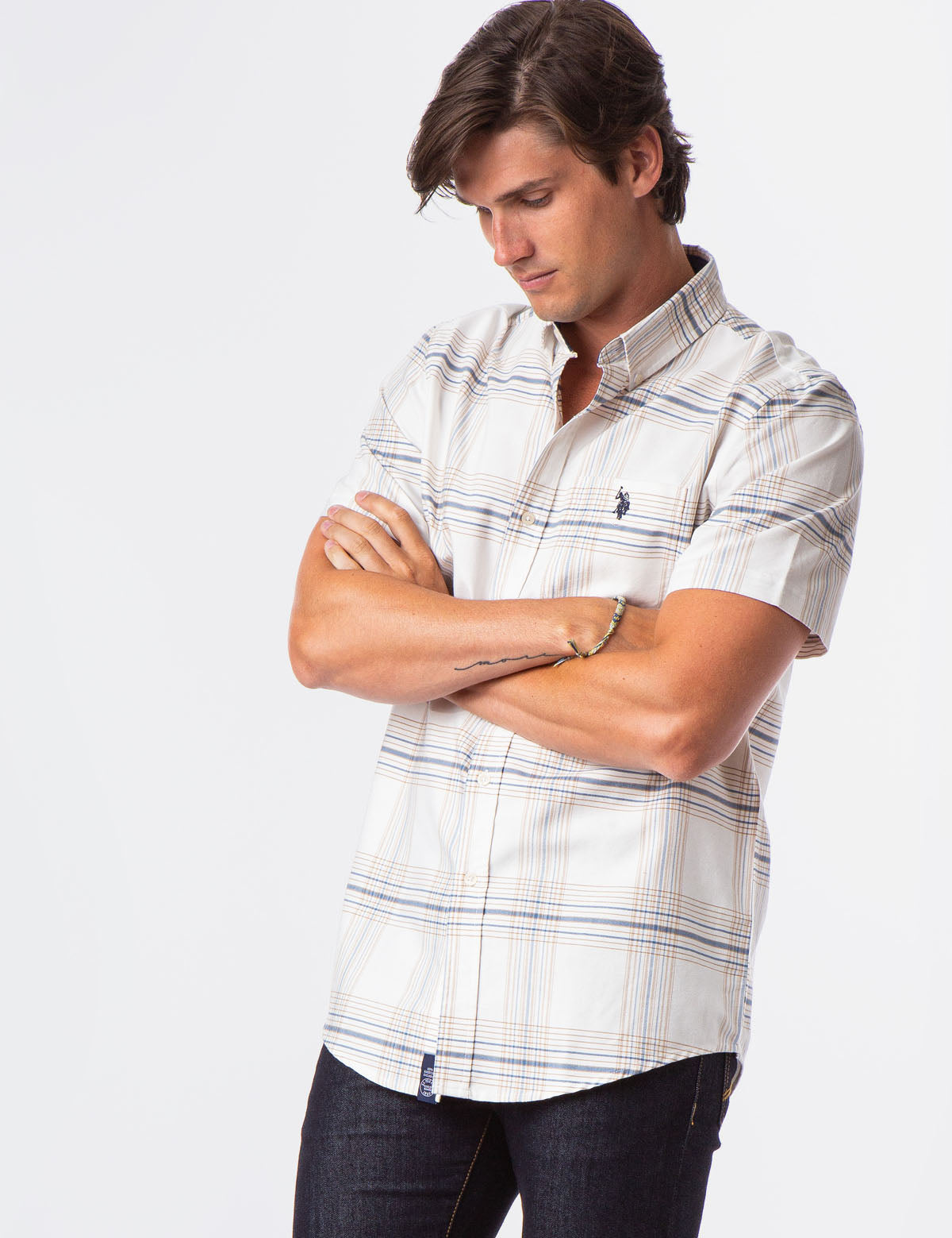 PLAID SHORT SLEEVE OXFORD SHIRT - U.S. Polo Assn.