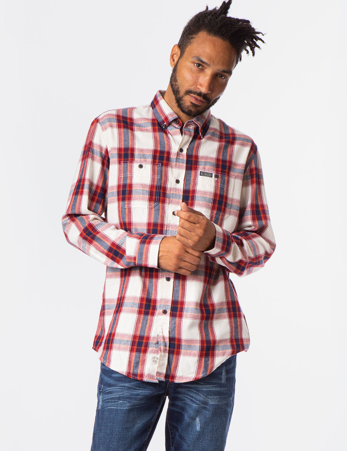 PLAID TWILL TWO POCKET SHIRT - U.S. Polo Assn.