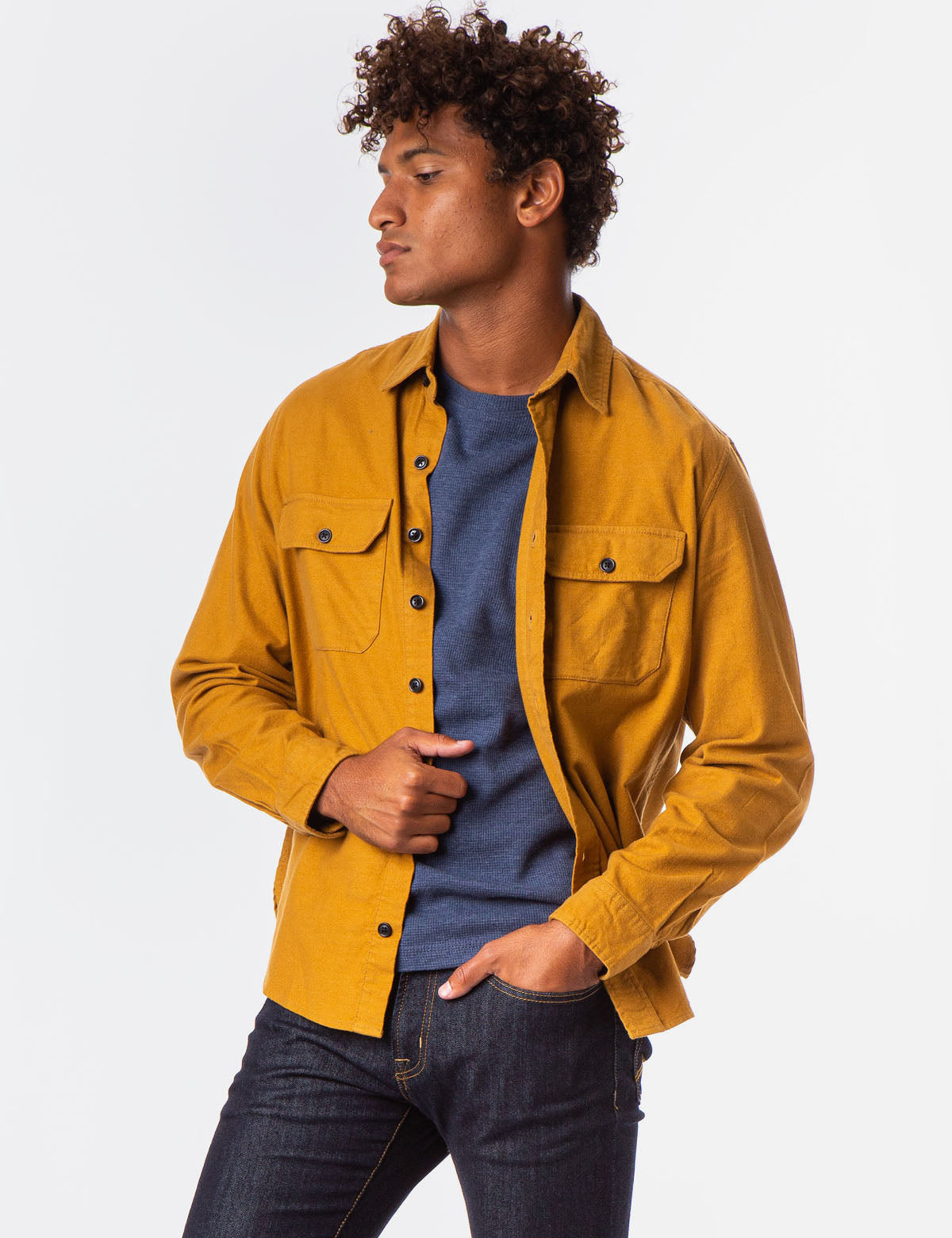 HEAVY BRUSHED CANVAS OVERSHIRT - U.S. Polo Assn.