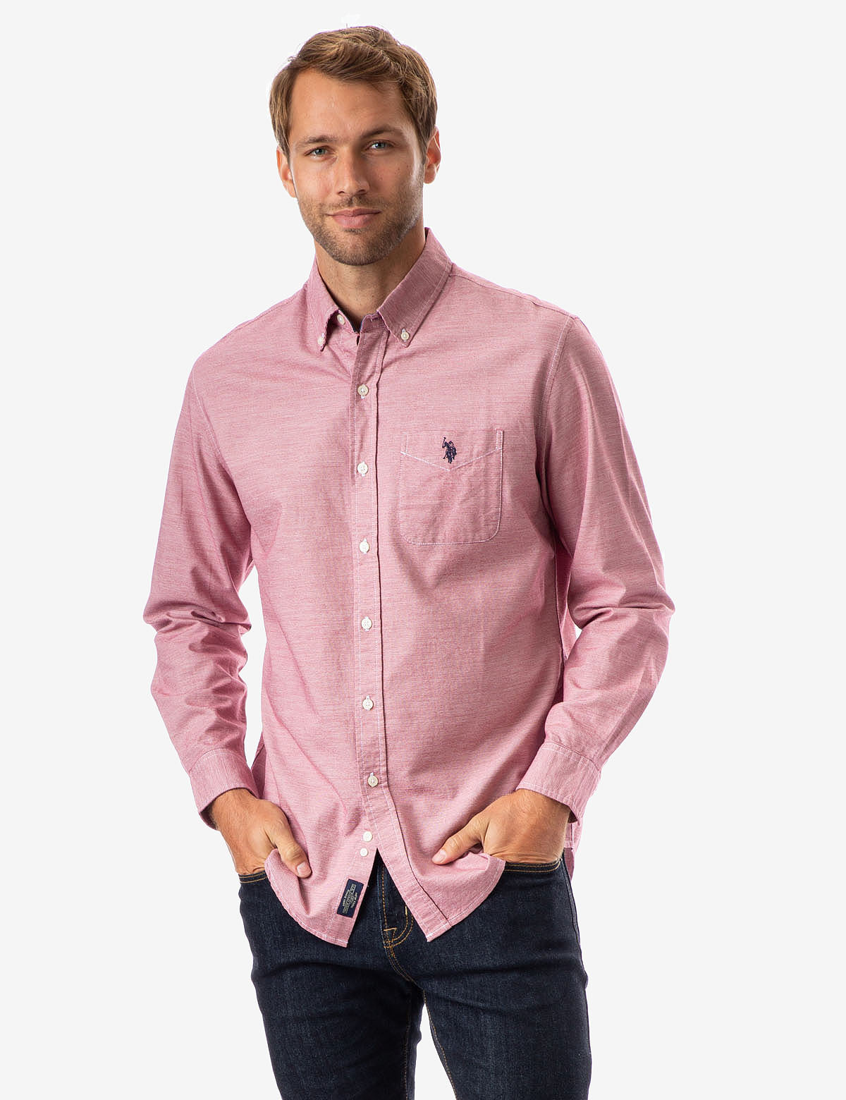 HORIZONTAL STRIPED TEXTURED SHIRT - U.S. Polo Assn.