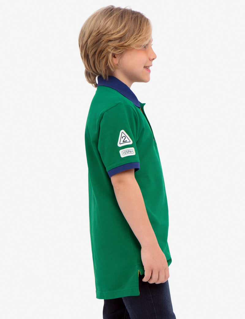 BOYS PIQUE VERTICAL COLORBLOCK POLO SHIRT