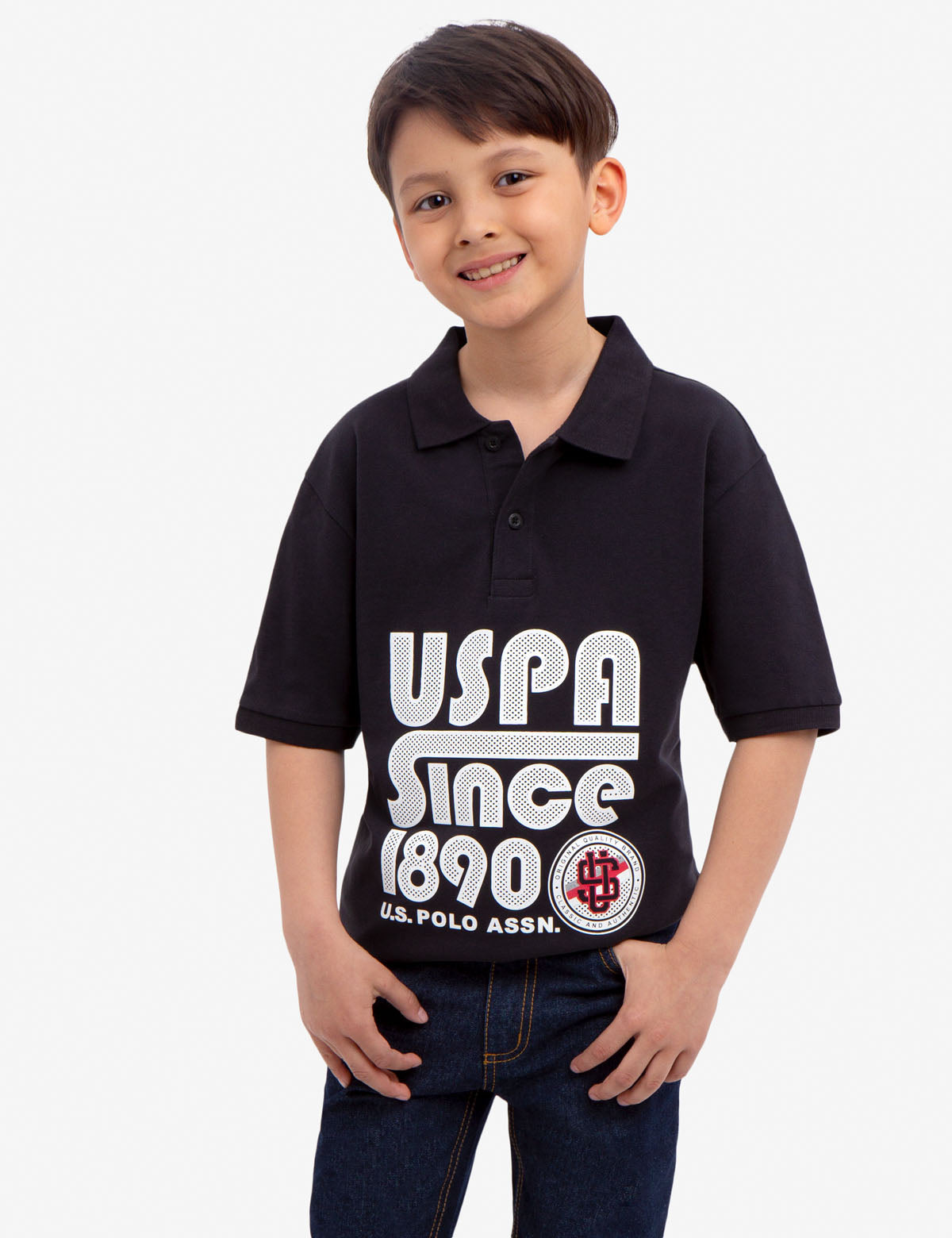BOYS SOLID PIQUE POLO SHIRT