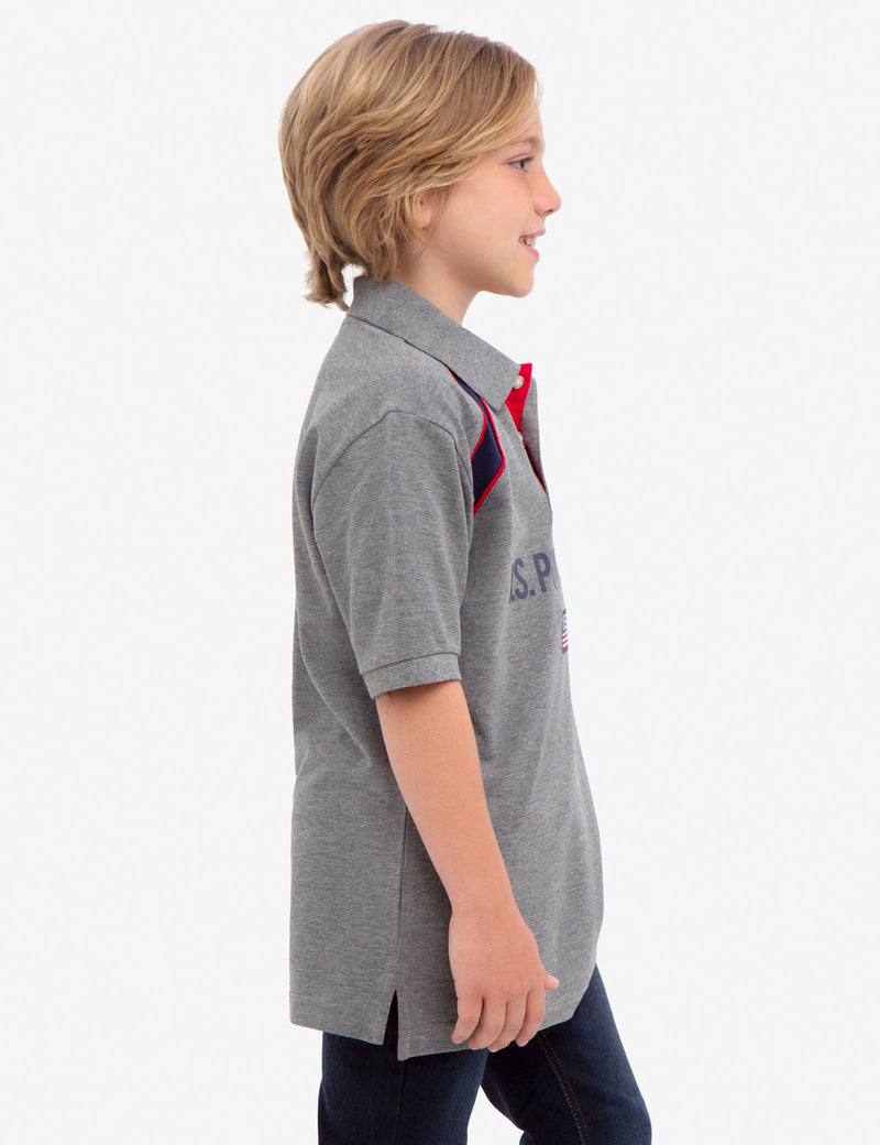 BOYS U.S. POLO ASSN. PIQUE POLO SHIRT