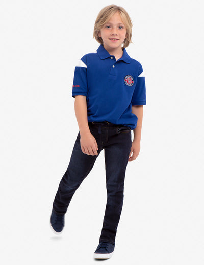 BOYS U.S. POLO ASSN. PIQUE PATCH POLO SHIRT - U.S. Polo Assn.