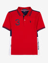 BOYS COLORBLOCK SIDE STRIPE POLO SHIRT - U.S. Polo Assn.