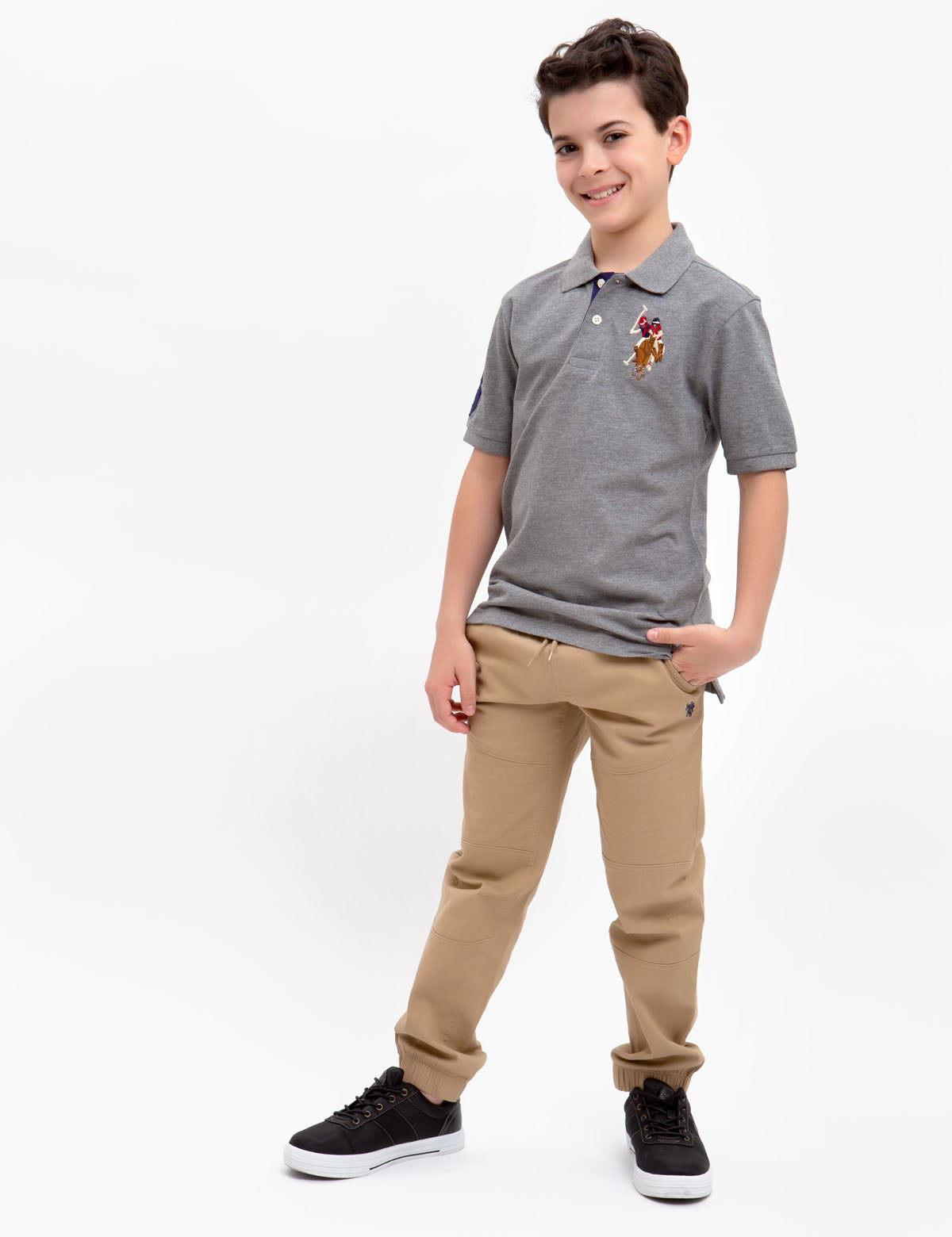Boys Multi-Color Big Logo Polo Shirt