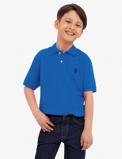BOYS LOGO PIQUE POLO SHIRT - U.S. Polo Assn.