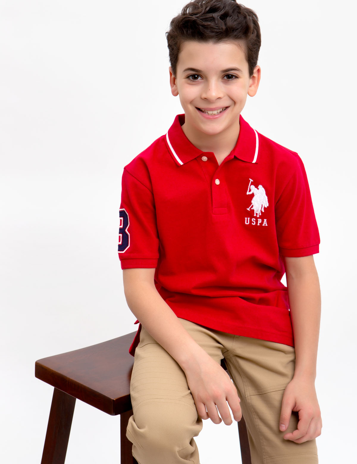 BOYS SOLID COLLAR POLO SHIRT - U.S. Polo Assn.