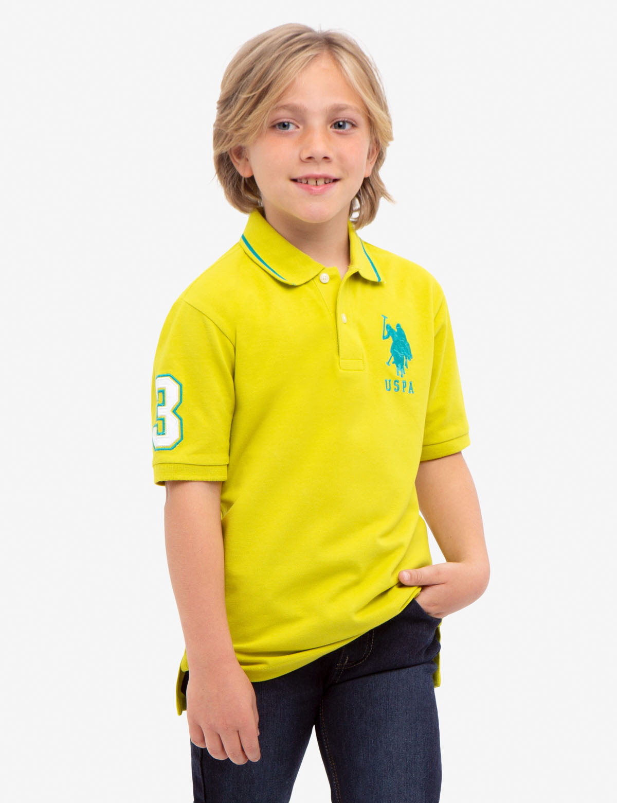 BOYS SOLID COLLAR POLO SHIRT