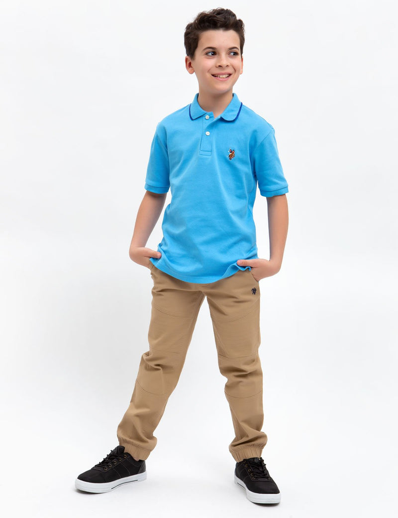 BOYS INTERLOCK POLO SHIRT