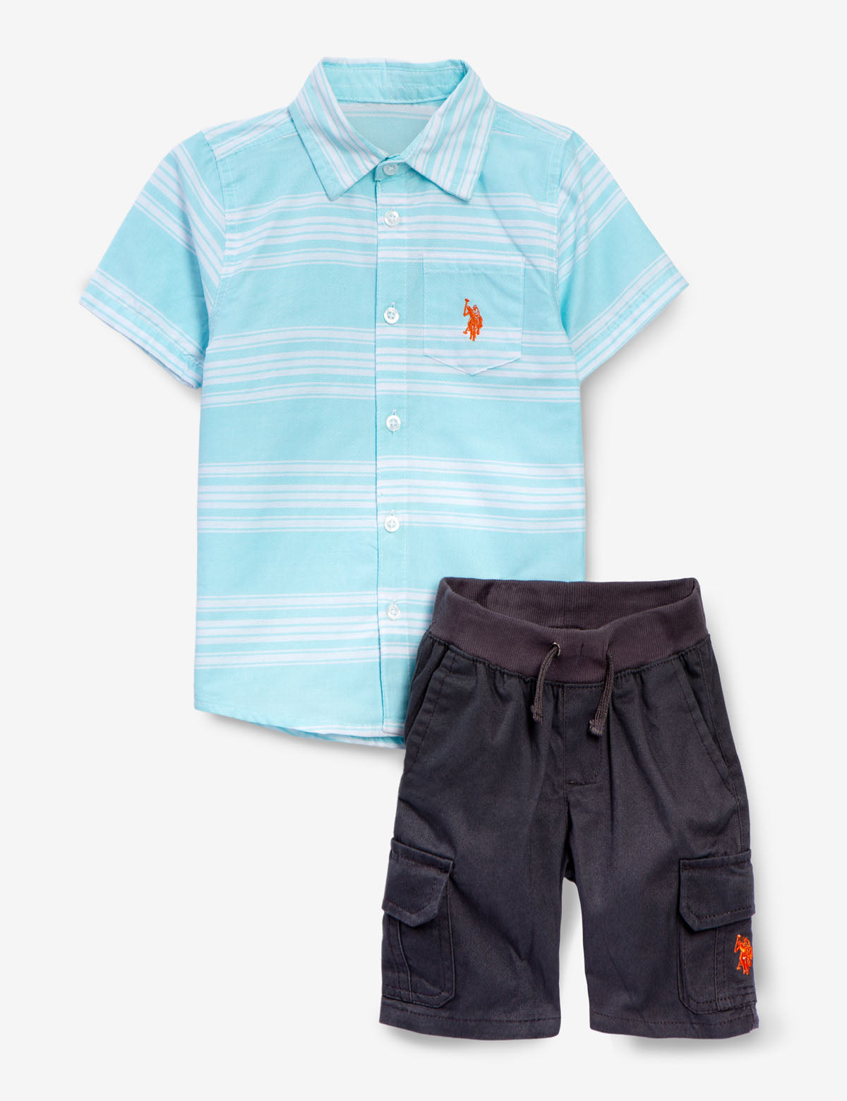 BOYS 2 PIECE SET - SHIRT & SHORTS - U.S. Polo Assn.