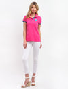 STRETCH MULTI TONAL LOGO POLO SHIRT