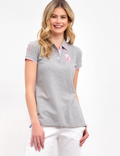 STRETCH MULTI TONAL LOGO POLO SHIRT - U.S. Polo Assn.