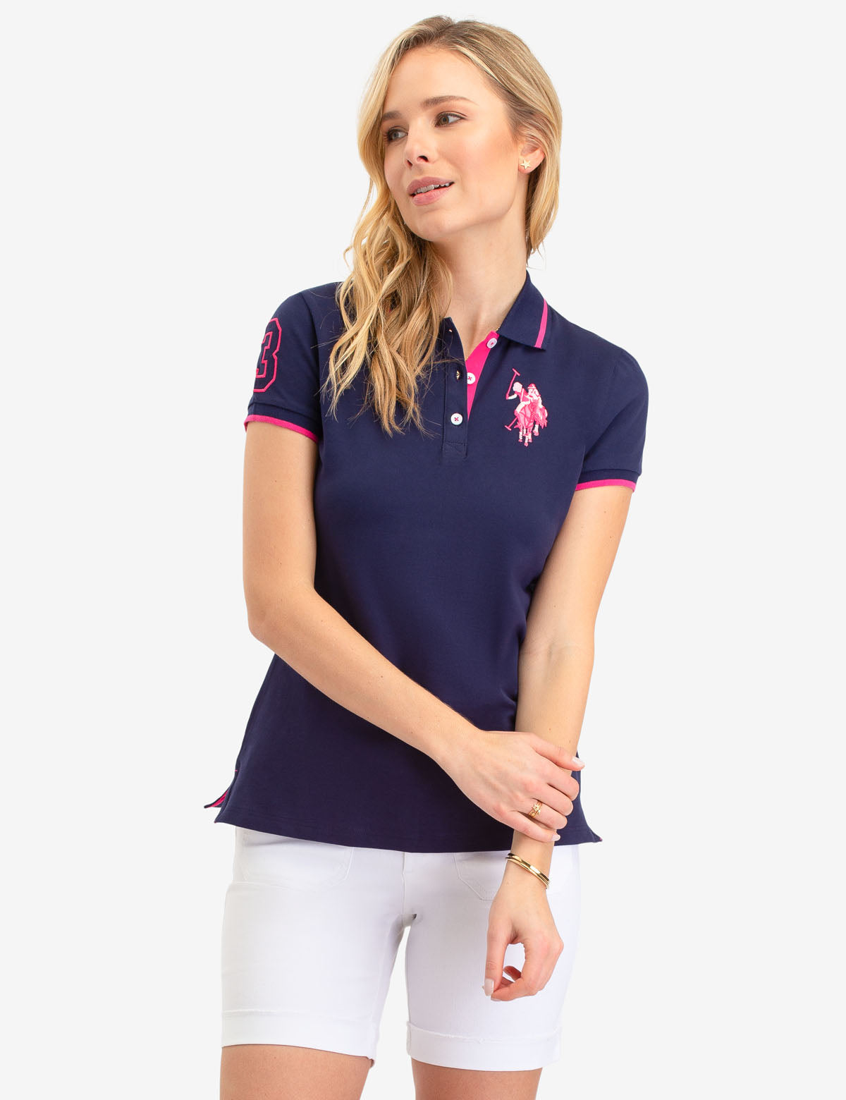 MULTI TONAL BIG PONY POLO SHIRT