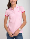 STRETCH SMALL LOGO TIPPED POLO SHIRT - U.S. Polo Assn.