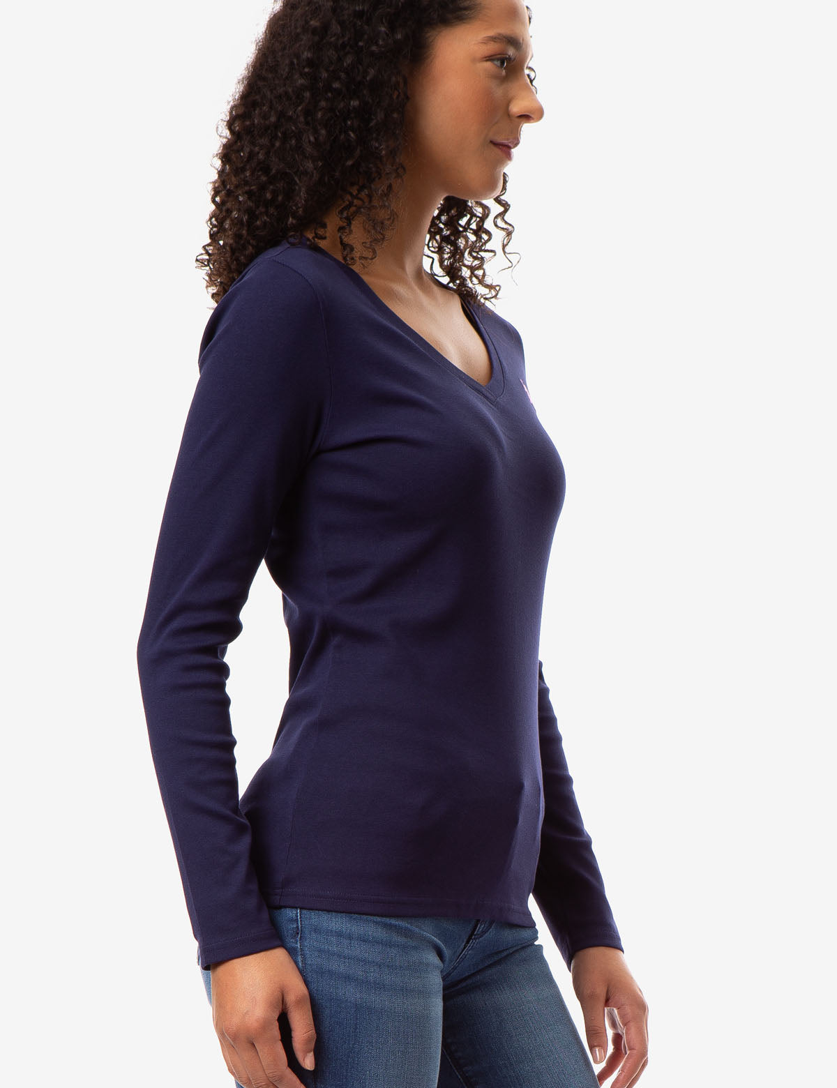 LONG SLEEVE V-NECK T-SHIRT - U.S. Polo Assn.