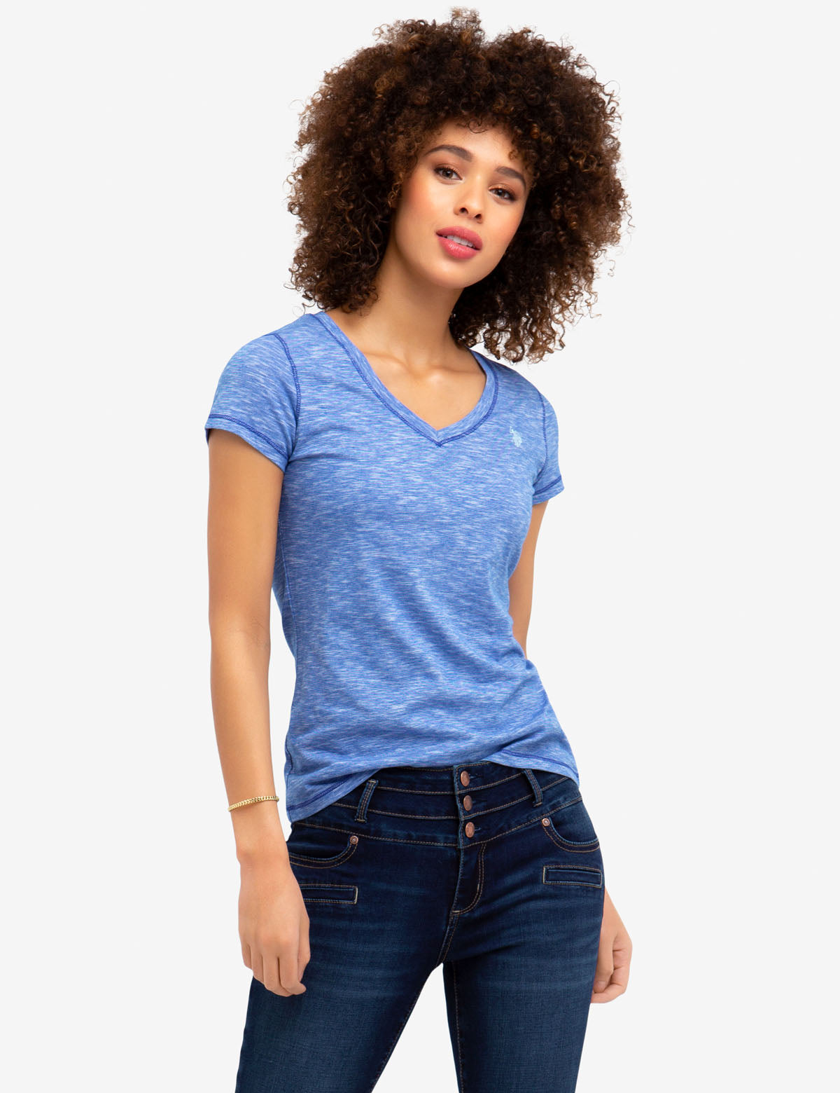 SPACE DYED TEE-SHIRT - U.S. Polo Assn.