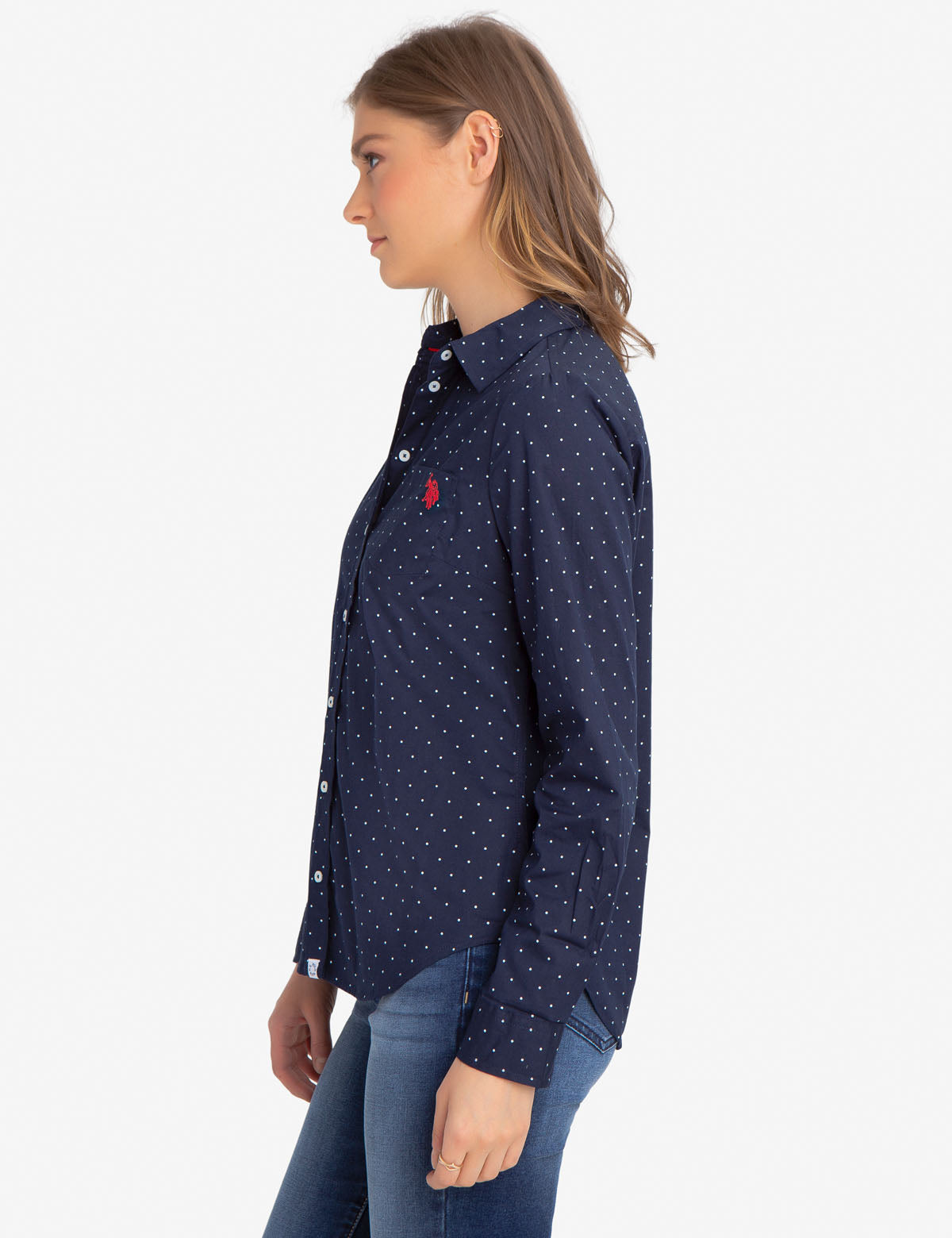 DOT STRETCH POPLIN SHIRT - U.S. Polo Assn.