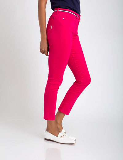 MID RISE SKINNY FIT PANT