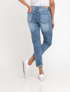 Stretch RELAXED FIT PATCHED CROP JEANS - U.S. Polo Assn.
