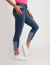 STRETCH MID RISE SKINNY CROP JEANS - U.S. Polo Assn.