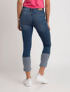 STRETCH BACK HEM CROP JEANS - U.S. Polo Assn.