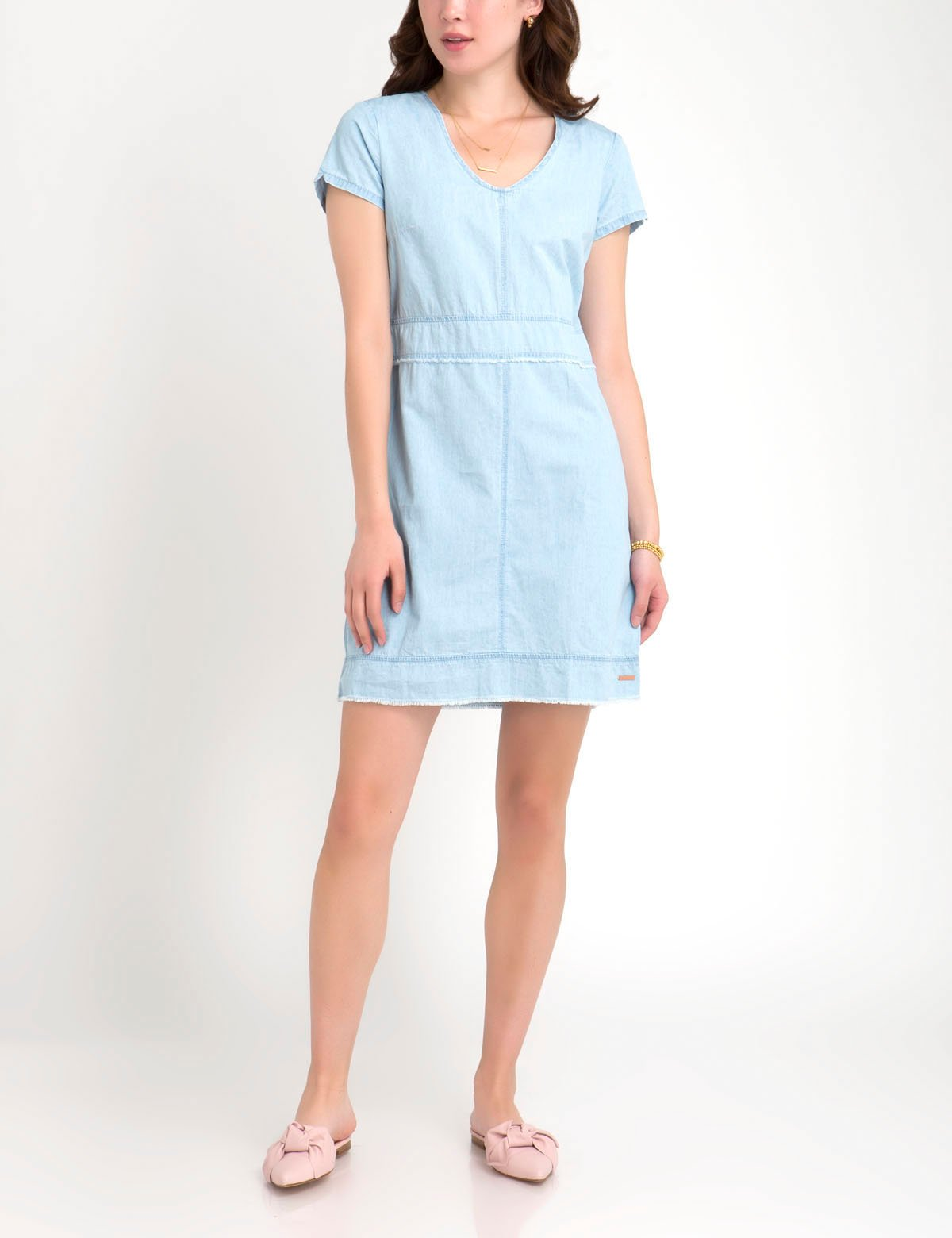 FRAYED DENIM DRESS - U.S. Polo Assn.