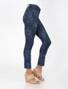 STRETCH SUPER SKINNY FIT FLORAL JEANS