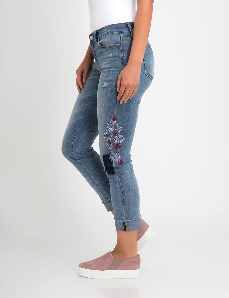 STRETCH RELAXED CROP FIT EMBROIDERED PATCH JEAN - U.S. Polo Assn.