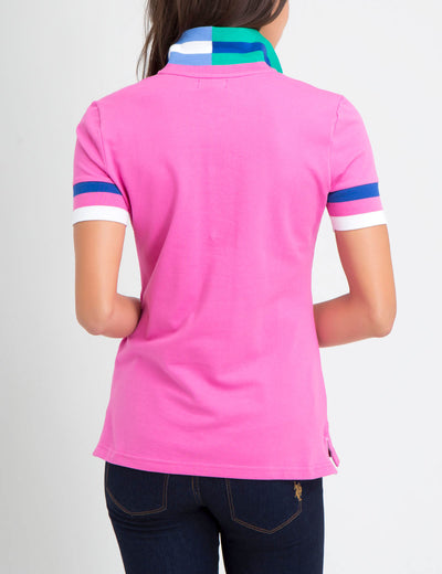STRETCH MULTI COLOR TIPPED POLO SHIRT - U.S. Polo Assn.
