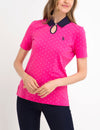 PREMIUM KEYHOLE DOT POLO SHIRT