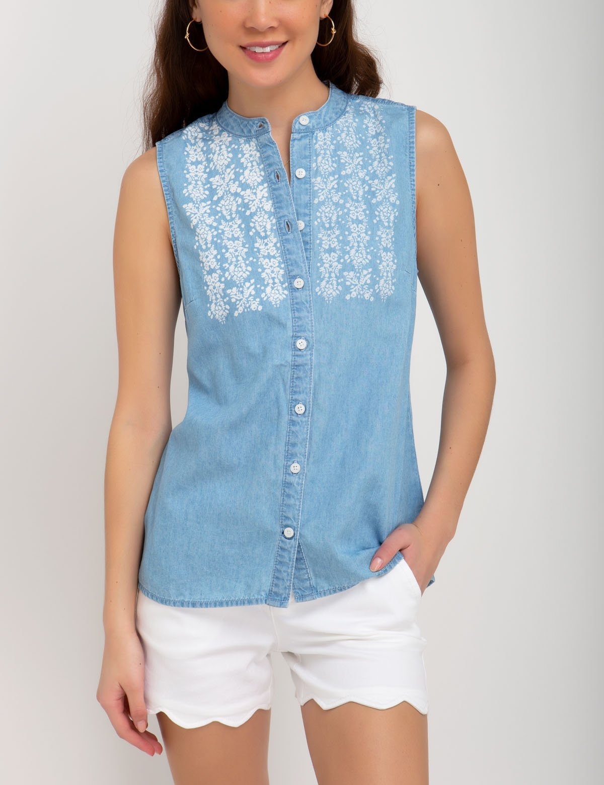 DENIM SLEEVELESS TOP - U.S. Polo Assn.