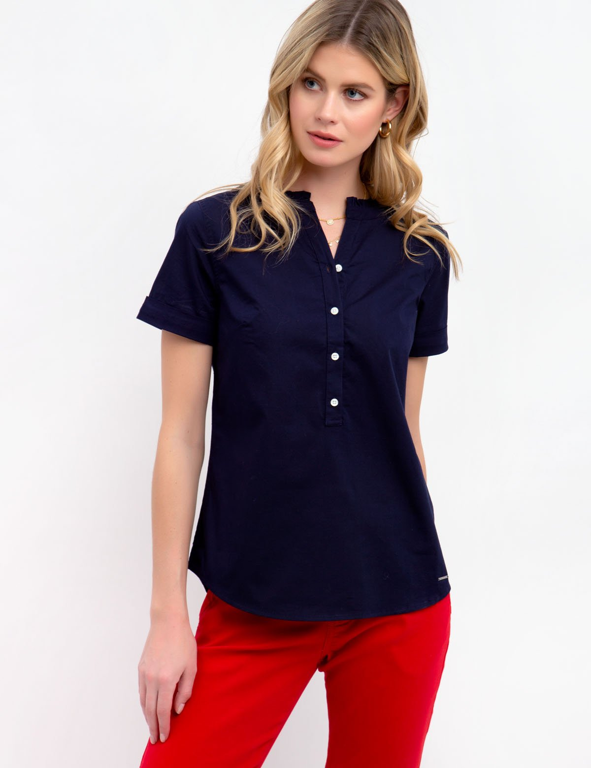 RUFFLE POPOVER TOP - U.S. Polo Assn.