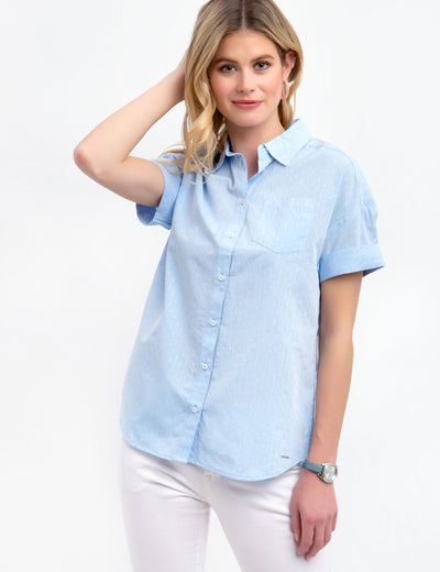 DOT BUTTON FRONT SHIRT - U.S. Polo Assn.