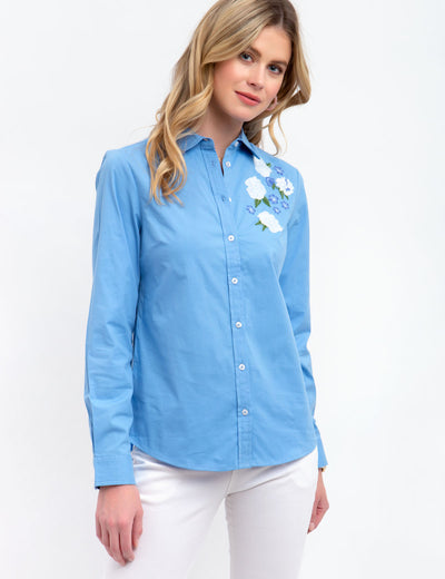 FLORAL POPLIN TOP - U.S. Polo Assn.