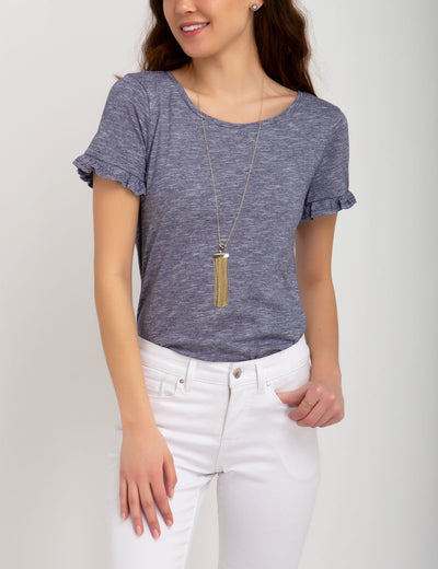 FLUTTER SLEEVE SCOOP TOP - U.S. Polo Assn.