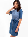 SHORT SLEEVE DENIM DRESS - U.S. Polo Assn.