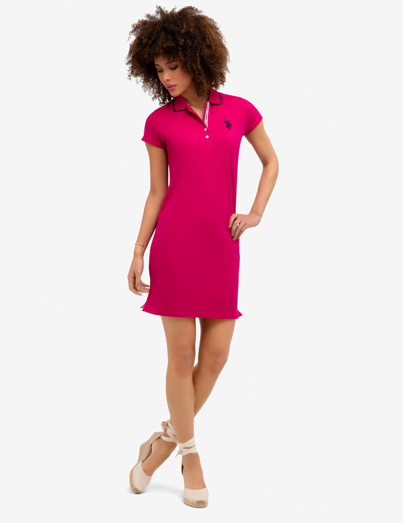 TIPPED POLO DRESS