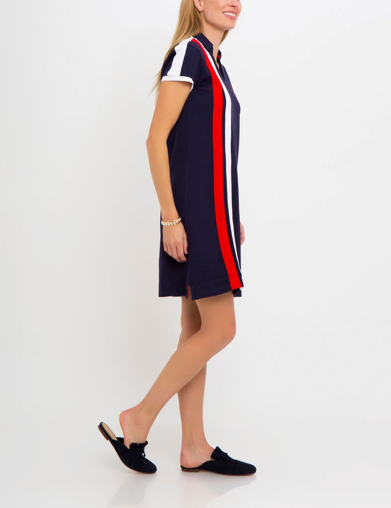 SIDE STRIPE POLO DRESS