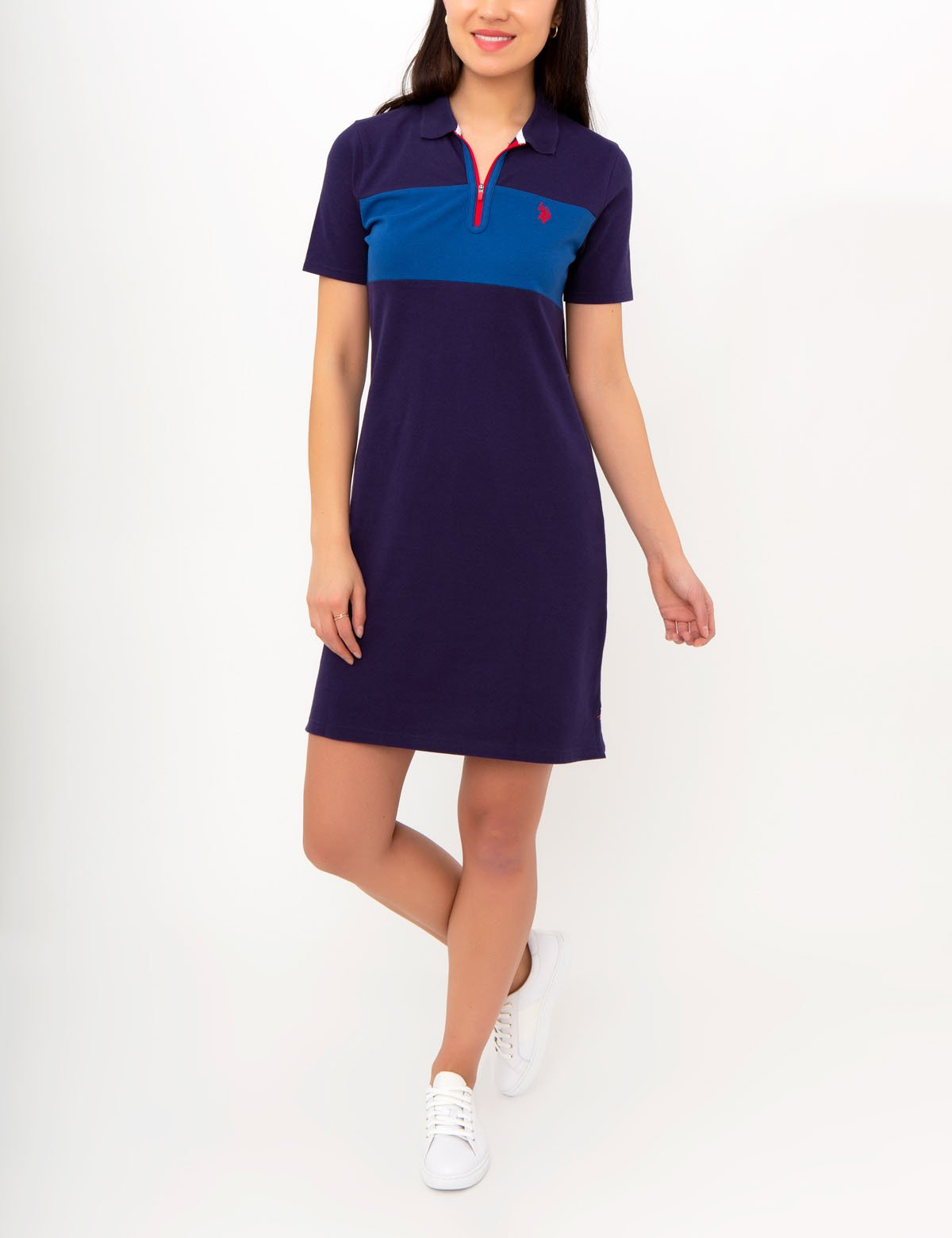 POLO DRESS WITH ZIPPER
