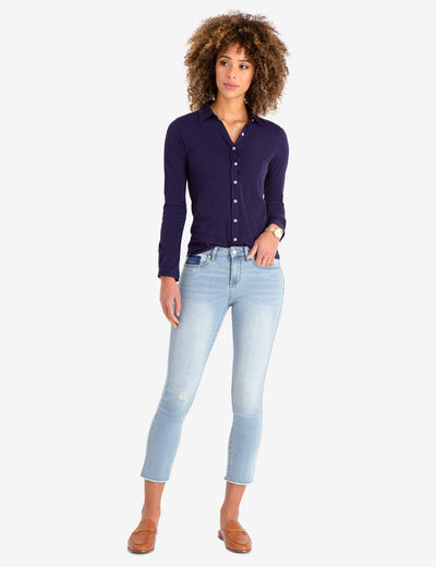 MID RISE SLIM FIT SKINNY CROP JEANS - U.S. Polo Assn.