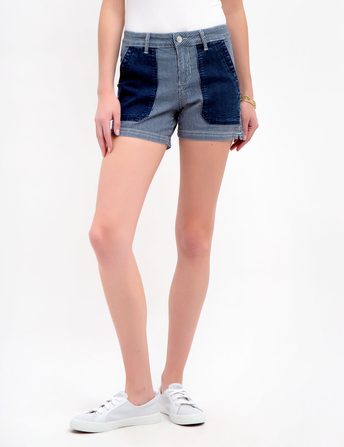 PATCH RAILROAD STRIPED SHORTS