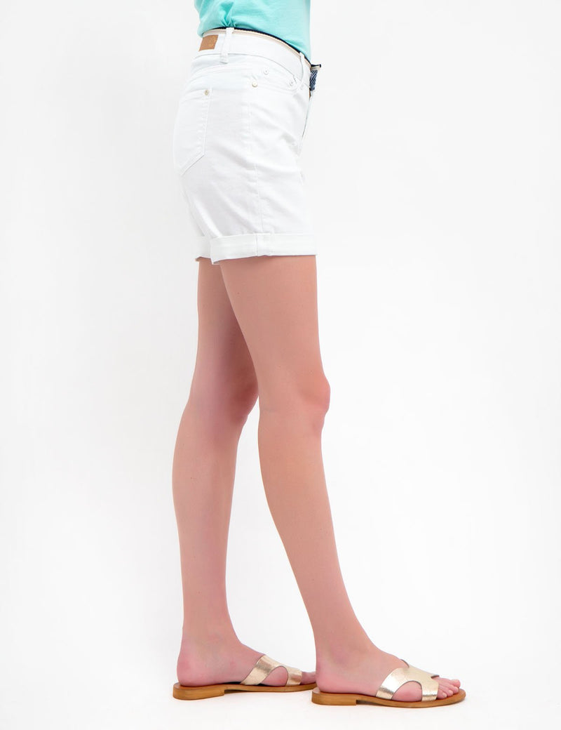 WHITE SHORTS WITH DETAILED WAIST - U.S. Polo Assn.